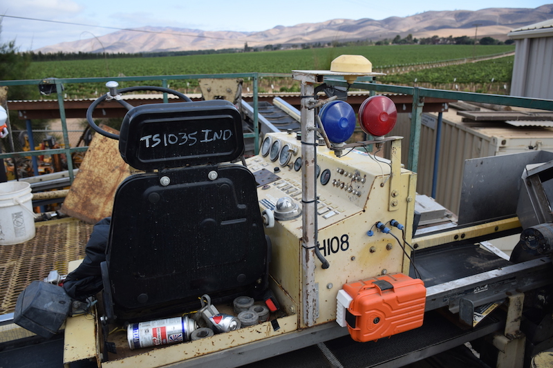 Valarm Monitoring Harvesters at Scheid Vineyards