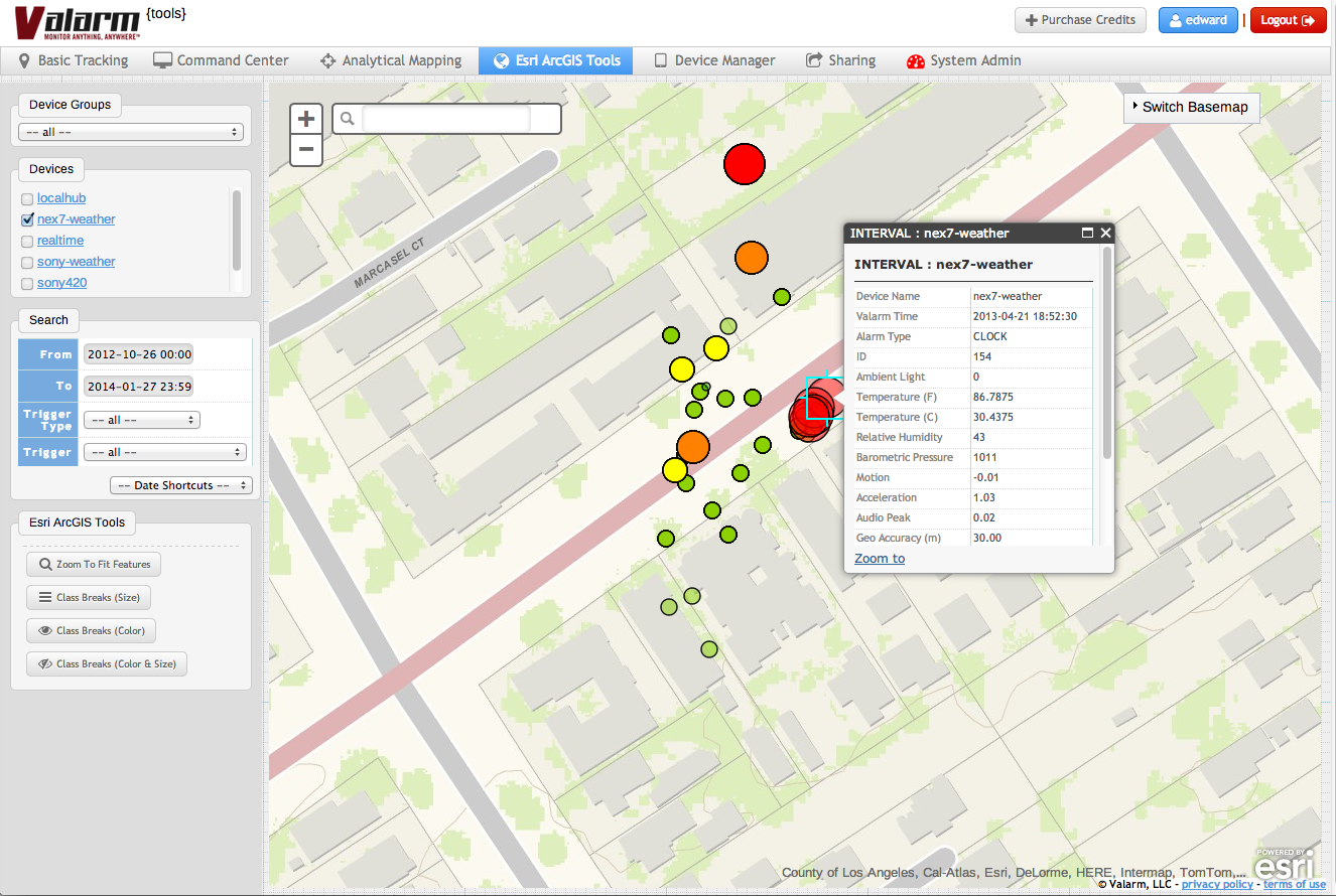 Valarm Tools Cloud - Esri JavaScript API Screenshot2