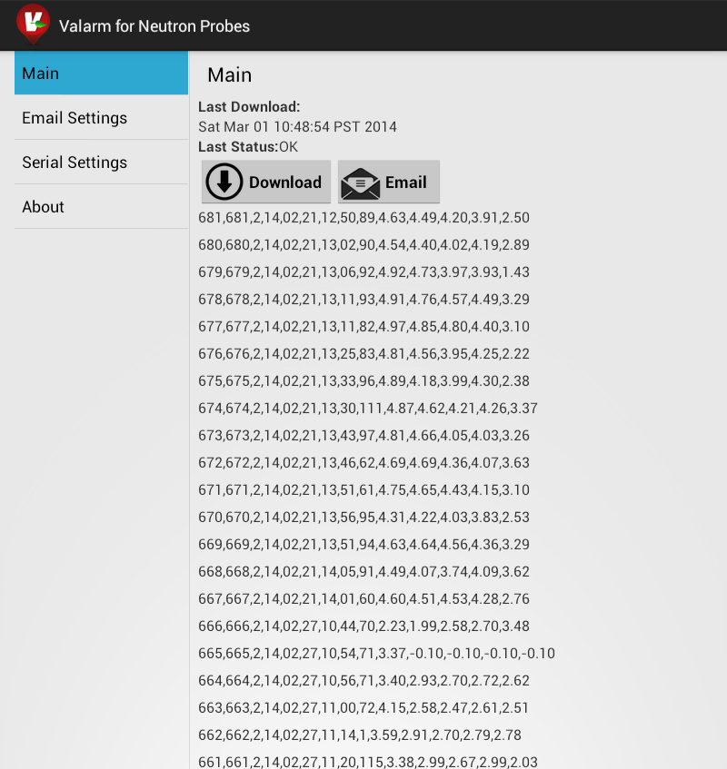 Valarm for Neutron Probes App Screenshot smaller