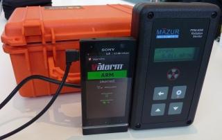 Valarm Mazur Instruments PRM-8000 Radiation Monitor radioactive geiger counter environmental sensor mobile device copy