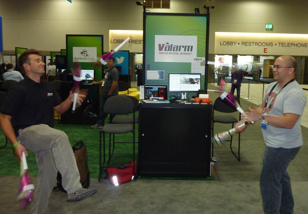 Valarm Sensors Monitoring Juggling Esri GIS User Conference EsriUC 2014