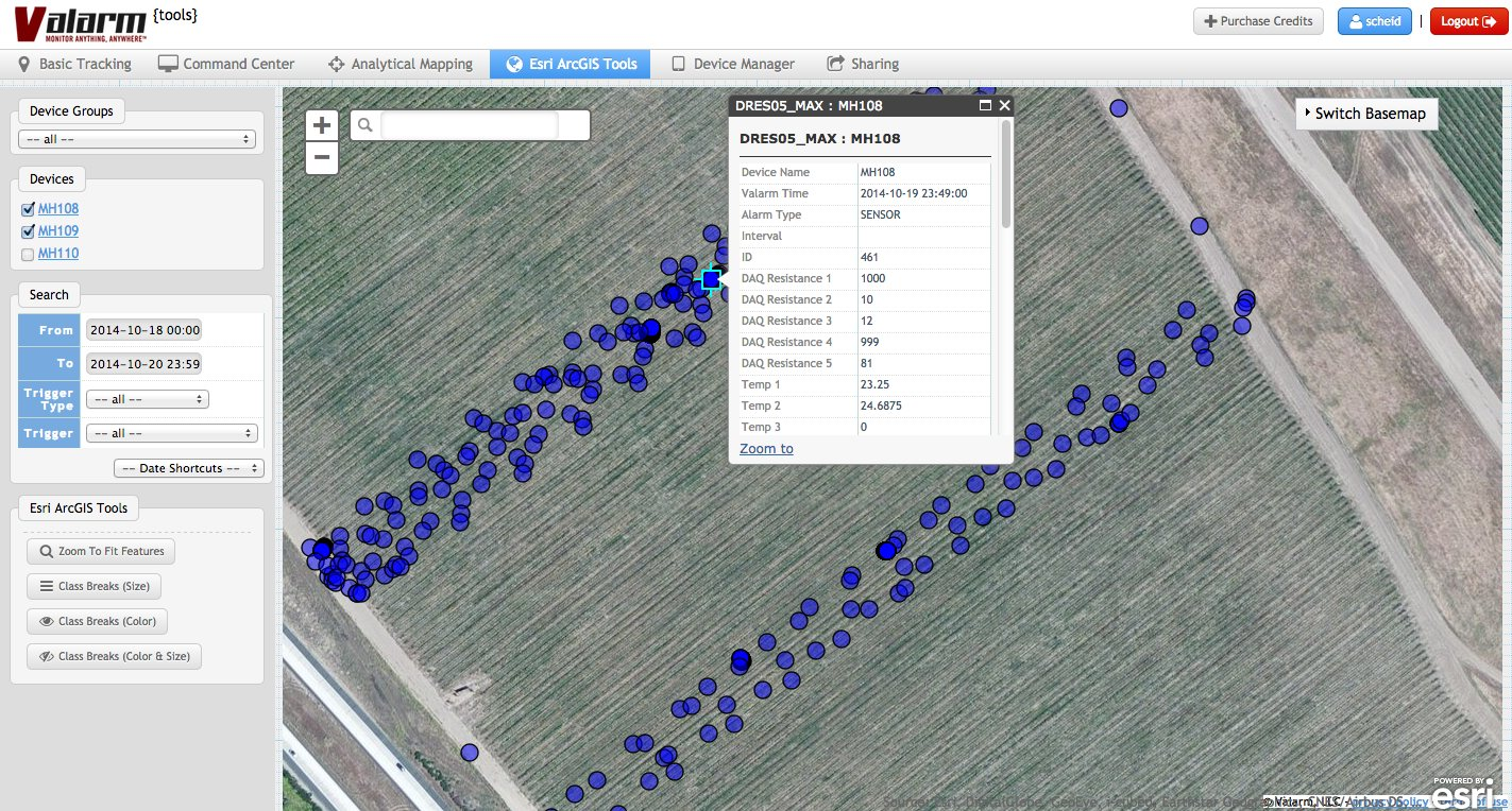 Valarm Scheid Harvester Map 2 Valarm Tools Cloud Esri ArcGIS Platform Tools