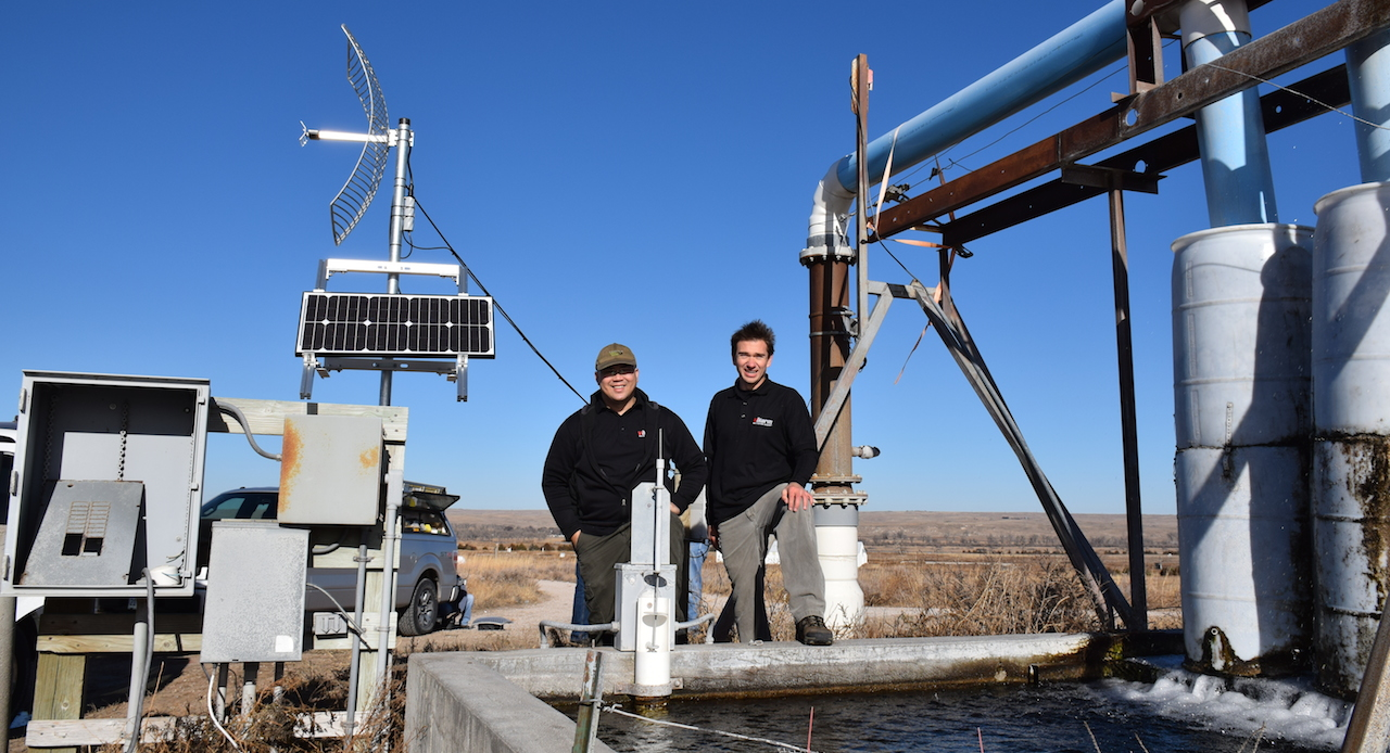 Valarm NPNRD Water Flow Monitor Deployment Aquaculture Fish Farm Agriculture Center Pivot Irrigation Irrigator Nebraska Lorenzo Edward