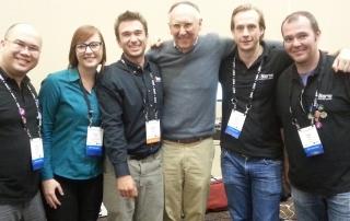 Valarm with Jack Dangermond at Esri Partner Conference Dev Summit 2015 Palm Springs California
