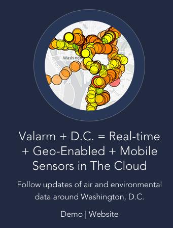 Valarm Esri Data Viz App Challenge Runner up