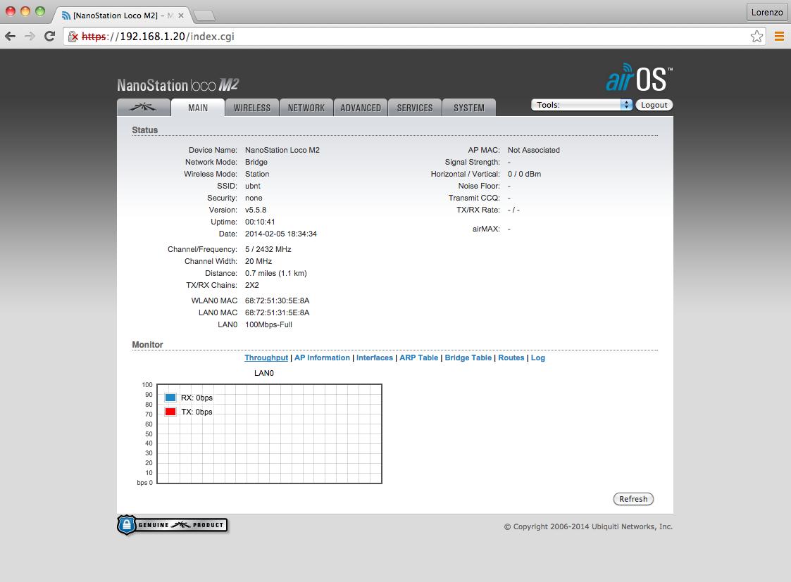 Valarm Tools Cloud Remote Monitoring Sensors Long Range WiFi Ubiquiti Nano Station Loco M2 2