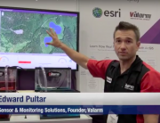 Valarm Esri UC 2015 Edward Pultar PhD Sensor Monitoring Solutions Real-Time GIS Demo Telemetry Geobuiz Interview Video 1