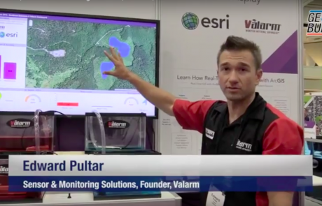 Interview with Demo of Interactive Valarm Sensor Solutions at Esri GIS UC
