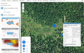 Valarm Sensors Remote Monitoring With Esri GeoEvent Extension ArcGIS Server AGOL GIS Online Portal Web Map pH sensor data Water Quality point size maps - 13 copy