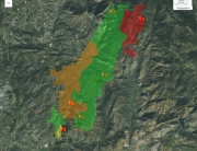Valarm Tools Cloud Web Dashboards for Remotely Monitoring Fire Risk + Weather Sensors in Southern California on Esri Maps 1