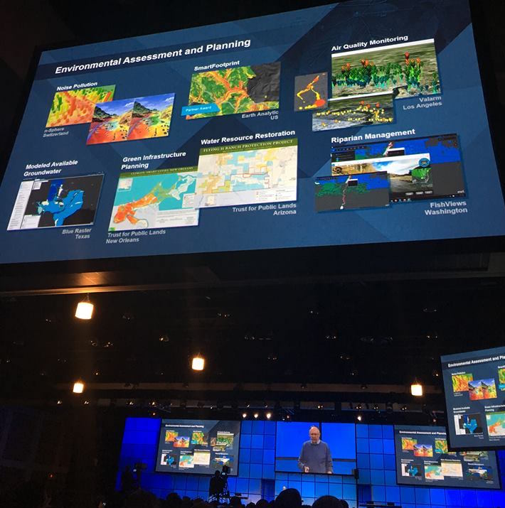 Esri Partner Conference 2016 Plenary Screenshot Real time Air Quality Monitoring
