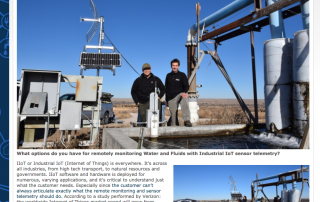 Valarm IIoT Industrial IoT Water Remote Monitoring IoT Central Press Screenshot Telemetry Realtime