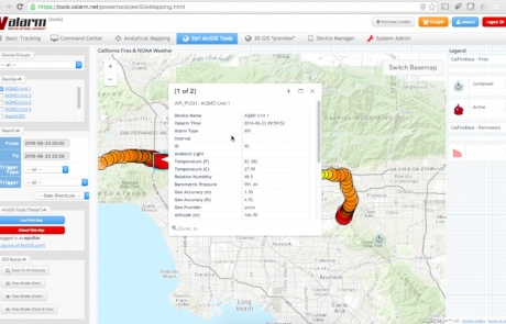 Esri ArcGIS Online / ArcGIS.com Integration With Valarm Tools Cloud Enables Effective Industrial IoT + GIS