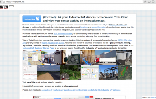 valarm-tools-cloud-industrial-iot-main-homepage-tools-valarm-net-screenshot