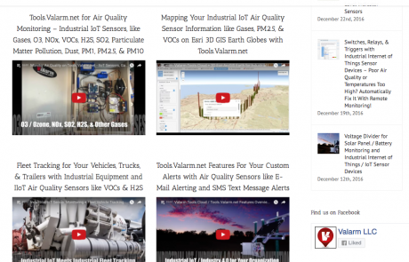 Video Tutorials on Air Quality Monitoring with Tools.Valarm.net – Monitor Any Gases, O3 / Ozone, NO2, Nitrous Oxides / NOx, H2S, SO2, PM2.5