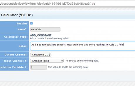 Tools.Valarm.net Calculators – Add Constant Values to IoT Sensor Reports