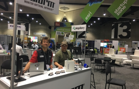 Remotely Monitoring Industrial IoT Sensors at Esri GIS User Conference 2017 in California