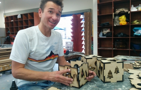 Volunteer Work Making Toys for Children Impoverished by Poverty in Colombia, Latin America