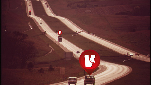 Valarm easily tracks vehicles across the continent.