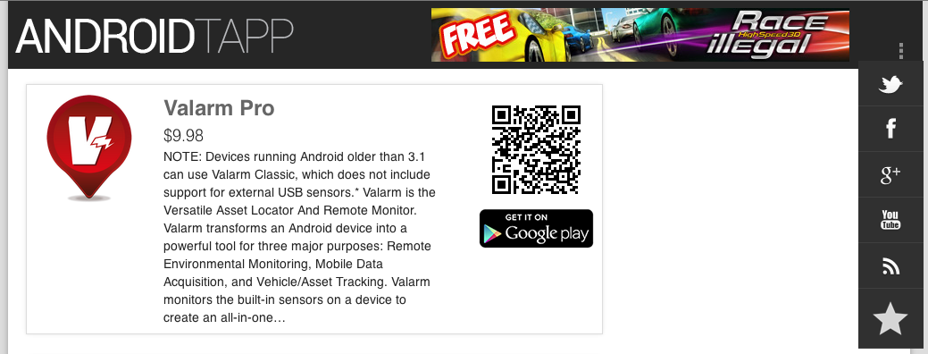 Valarm Android Tapp