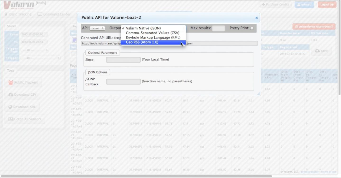 Valarm_API_GeoRSS_ArcGIS_Online_Platform Youtube Screenshot