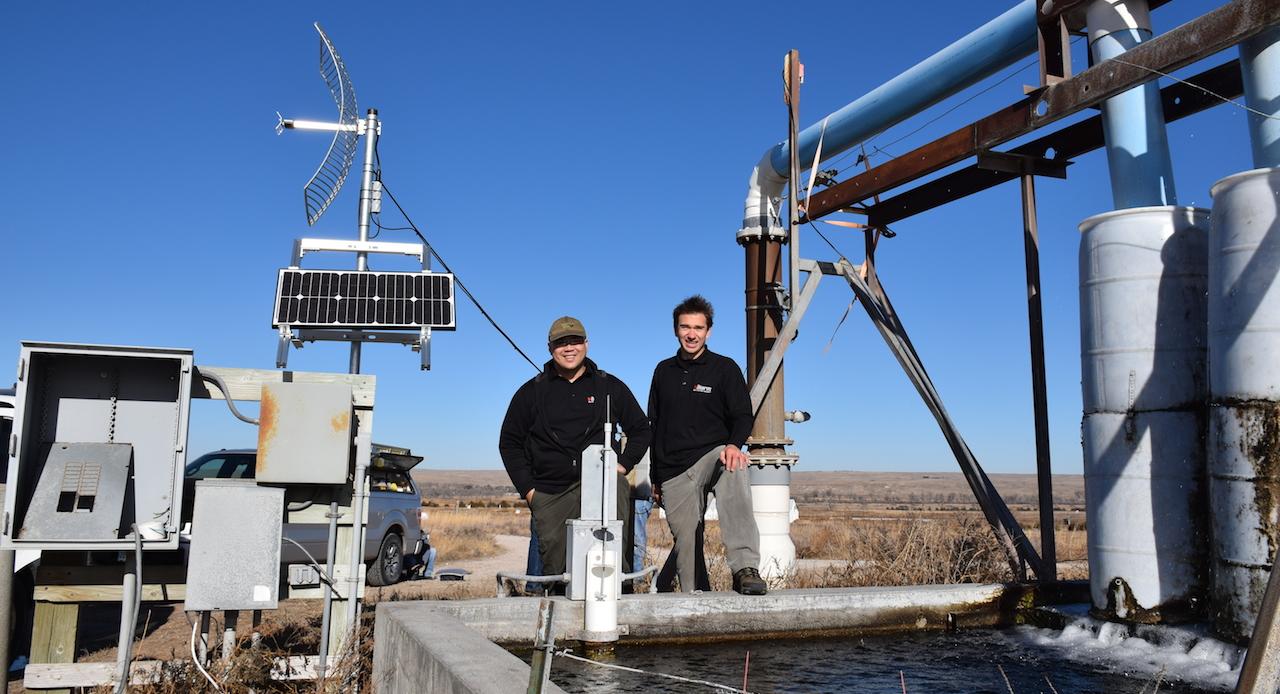 Valarm NPNRD Water Flow Monitor Deployment Aquaculture Fish Farm Agriculture Center Pivot Irrigation Irrigator Nebraska Lorenzo Edward