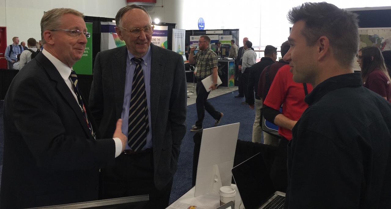 Jack Dangermond Geoff Wade Edward Pultar Valarm Esri PUG Conference 2015 2