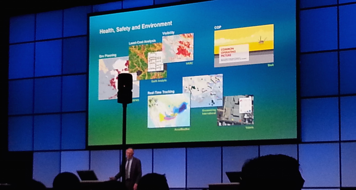 Valarm sensor and monitoring solutions screenshot in Esri PUG 2015 Jack Dangermond Plenary Health Safety Environment copy2