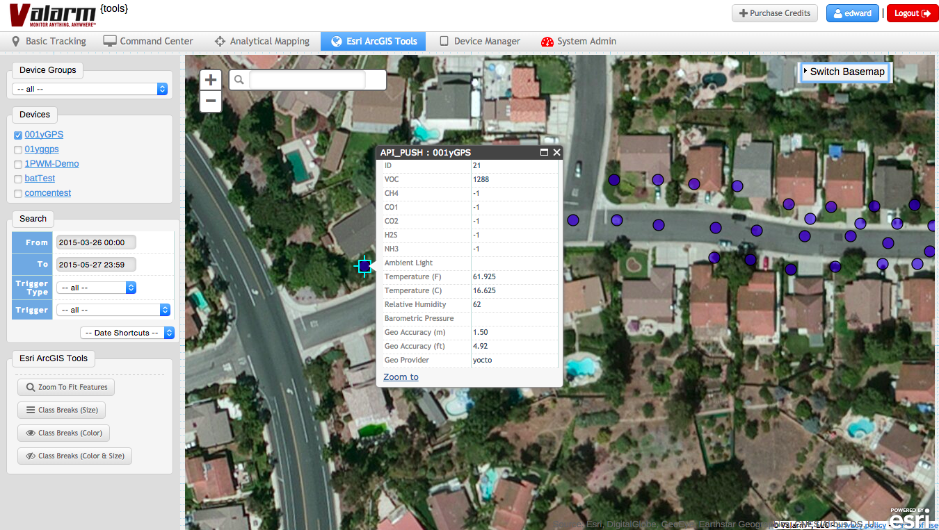 Valarm Sensor Monitoring Solutions Yoctopuce Yocto GPS Support Valarm Tools Cloud Screenshot 4