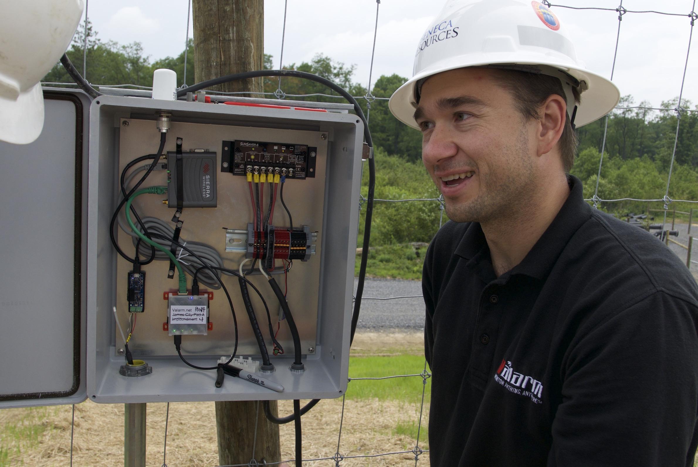 Valarm Water Level Sensor Monitoring Seneca Resources Oil Gas Upstream O&G Telemetry Remote Environmental Monitoring Real-Time 4