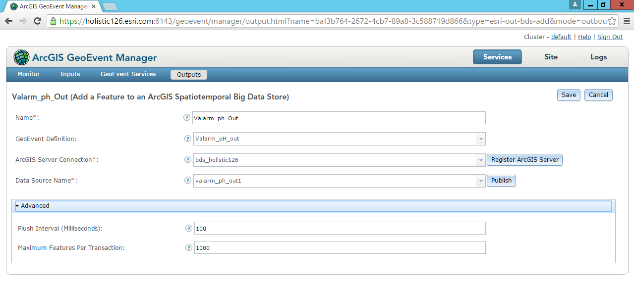 Valarm Sensors Remote Monitoring With Esri GeoEvent Extension ArcGIS Server Add Feature to GIS Spatiotemporal Big Data - 8