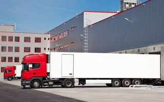 Valarm Trucks With Trailer Monitoring Sensors at Warehouse Depot
