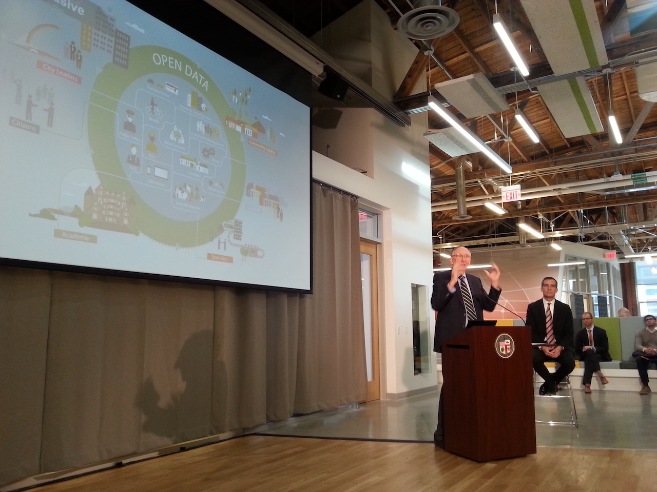 Valarm Esri Geohub LA Jack Dangermond Mayor Eric Garcetti Industrial IoT Applications Remote Monitoring Water Sensors