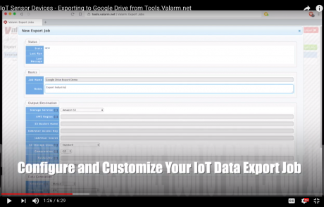Exporting IoT Sensor Data To Google Drive – Video Tutorial